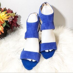 BCBG Cobalt Blue Suede Heels